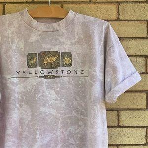 Vintage acid wash Yellowstone National Park shirt